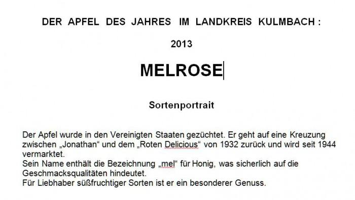 Beschreibung der Melrose